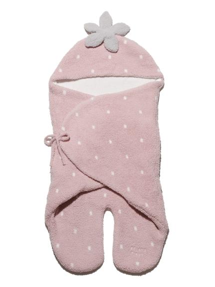 【BABY】'ベビモコ'ストロベリー baby おくるみ