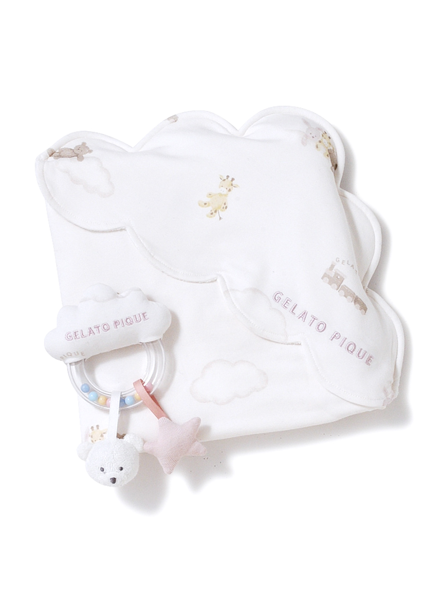 【ラッピング】Babyドリームアニマルブランケット&ガラガラSET