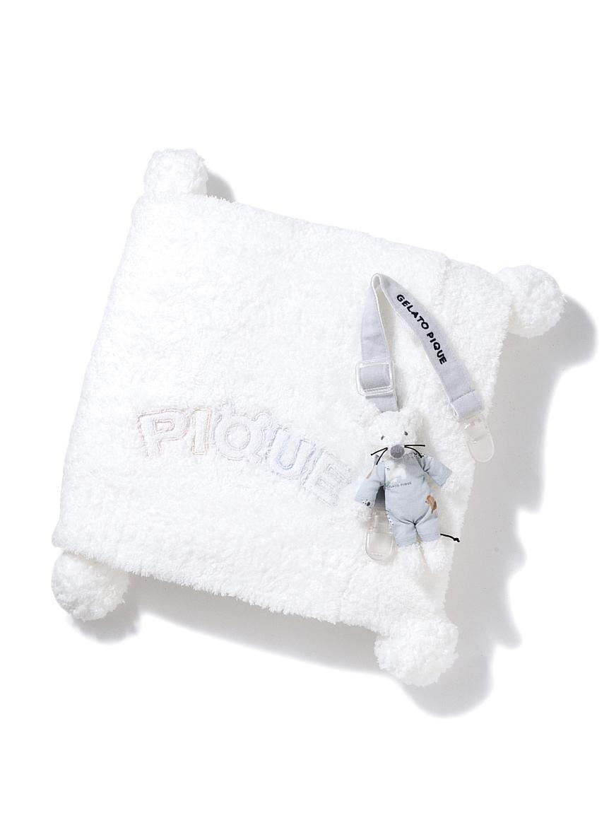 【ラッピング】Babyベビモコねずみマルチクリップ&ブランケット(BLU-F)