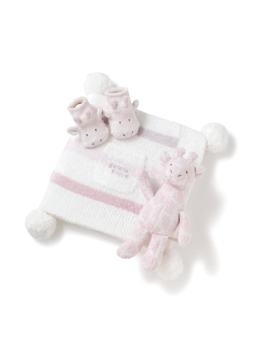 【ラッピング】Babyスムーズィー6ボーダーブランケット&キリンソックス&ラトルSET
