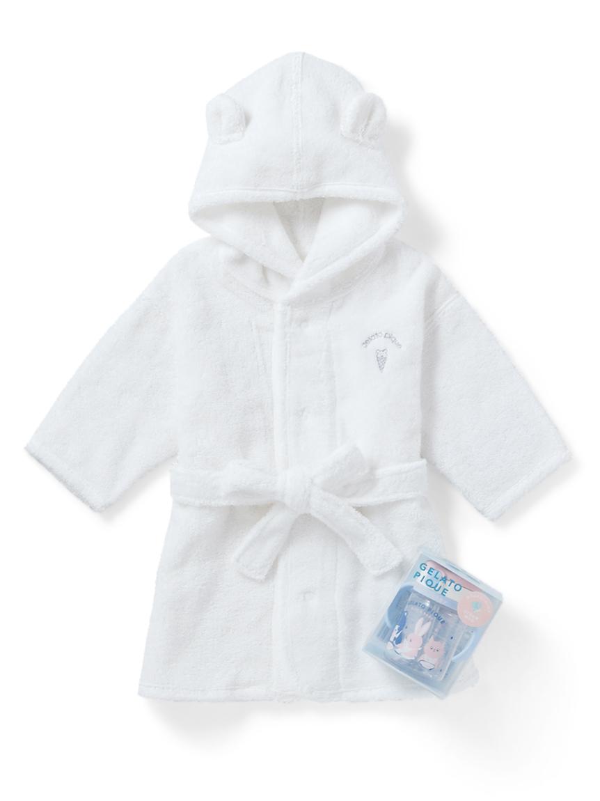 【ラッピング】Babyタオルバスローブ&ストローマグSET
