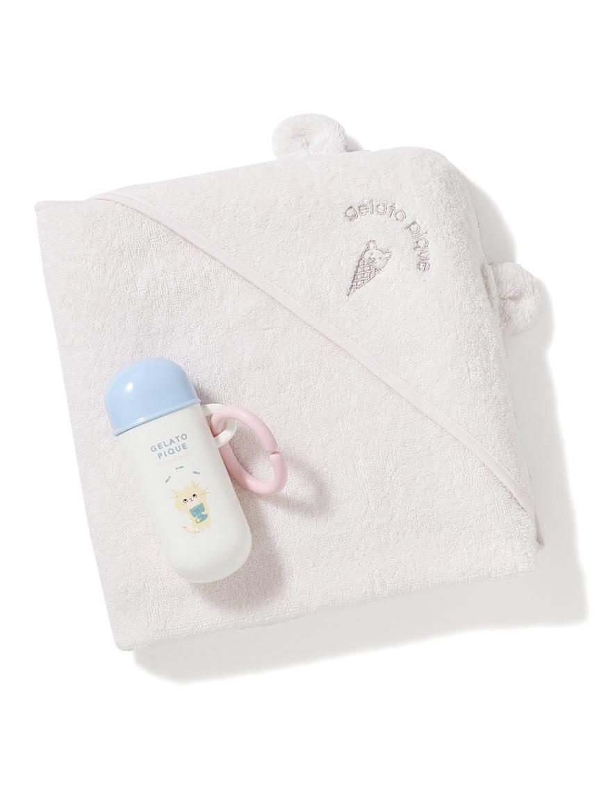 【ラッピング】Babyタオルブランケット&スナックケースSET(PNK-F)