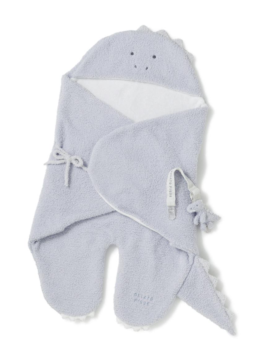 【ラッピング】Babyベビモコおくるみ&マルチクリップSET(BLU-F)