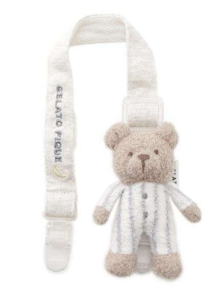 【BABY】'スムーズィー'ボーダーベアモチーフ baby マルチクリップ(BLU-F)