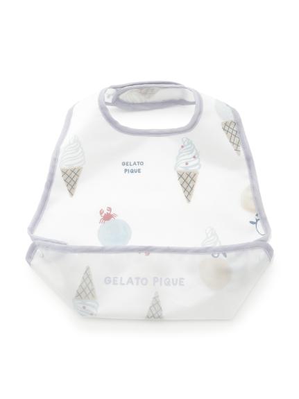 【BABY】アイスクリームアニマルモチーフ baby お食事スタイ(BLU-F)
