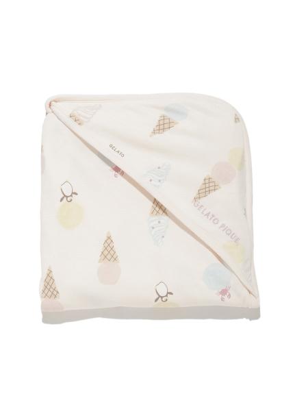 【BABY】アイスクリームアニマルモチーフ baby ブランケット(PNK-F)