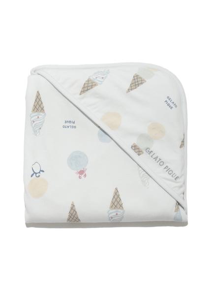 【BABY】アイスクリームアニマルモチーフ baby ブランケット(BLU-F)