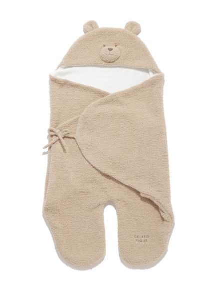 【BABY】 'ベビモコ'くまクッキー baby ブランケット(BEG-F)