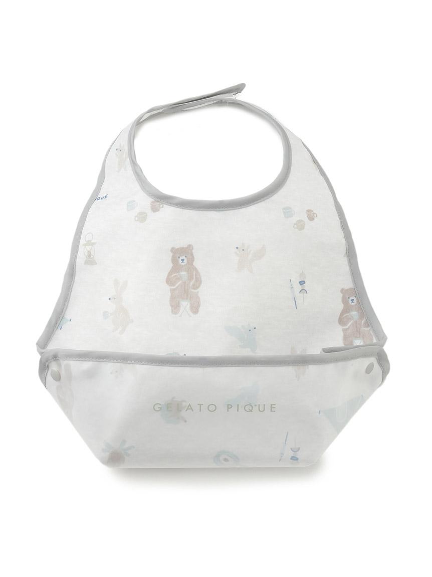 【BABY】 アニマルキャンプモチーフ baby お食事スタイ