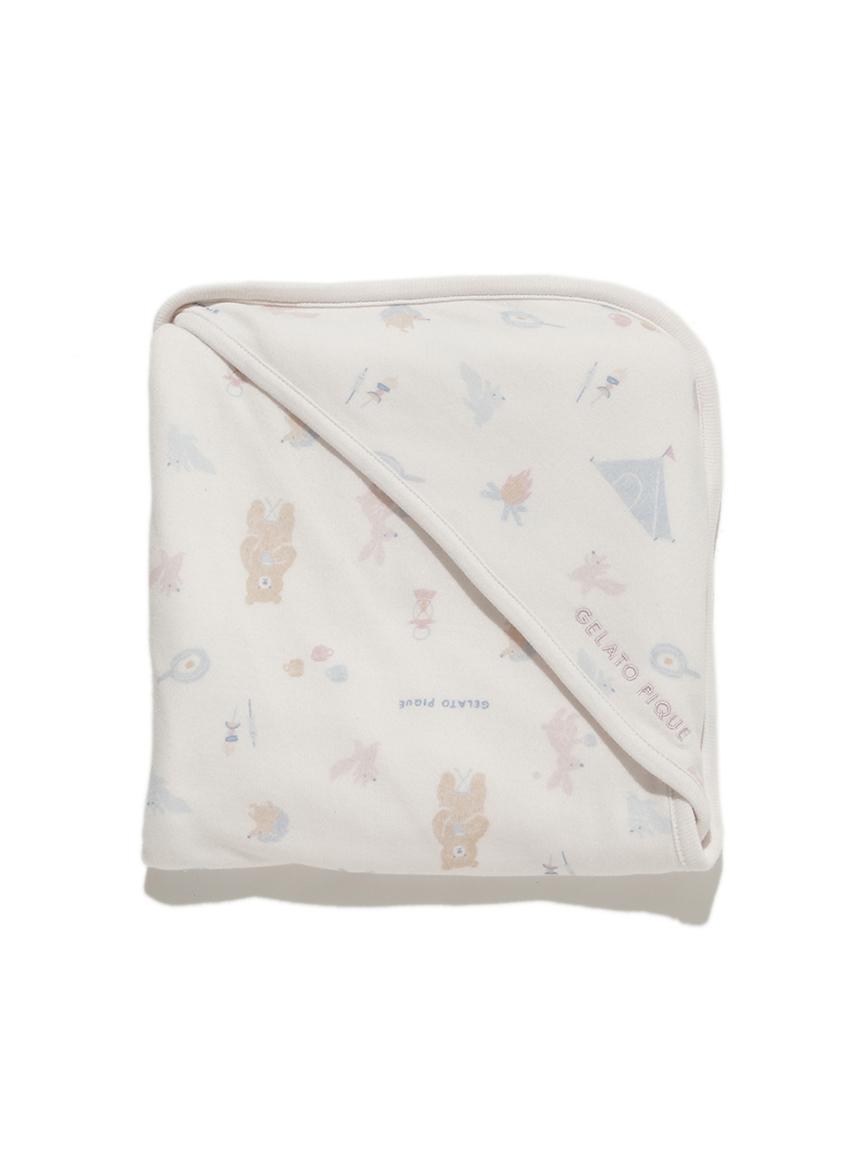 【BABY】 アニマルキャンプモチーフ baby ブランケット(PNK-F)