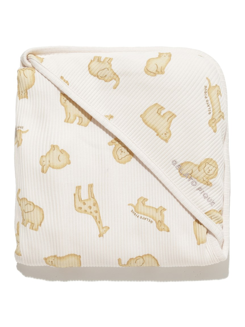 【BABY】 クッキーアニマルモチーフ baby ブランケット(PNK-F)