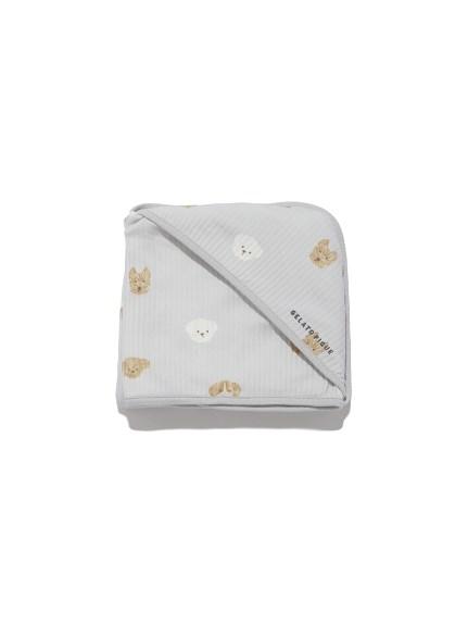 【BABY】メレンゲドッグ柄 baby ブランケット(BLU-F)