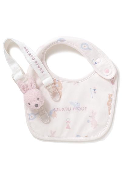 【ラッピング】【BABY】 アニマルキャンプモチーフ baby スタイ&'リサイクル'スムーズィー'baby マルチクリップ(PNK-F)