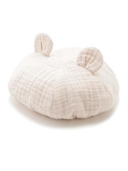 【BABY】アニマルガーゼ baby キャップ(PNK-F)