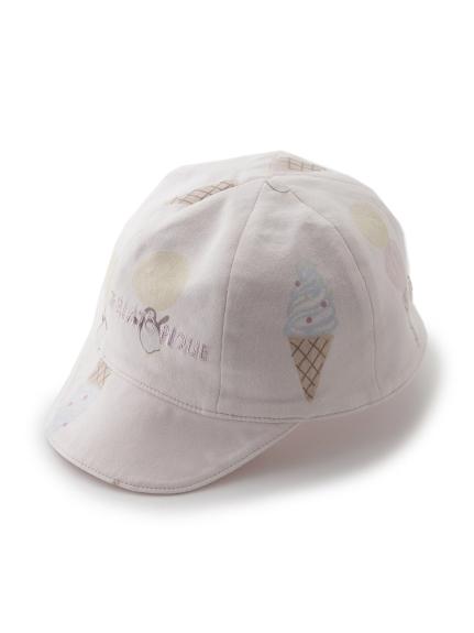 【BABY】アイスクリームアニマルモチーフ baby キャップ(PNK-F)