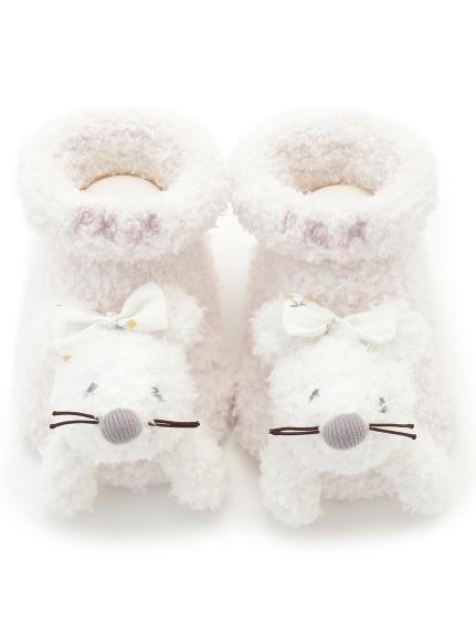 【BABY】'ベビモコ'ネズミ baby ソックス(PNK-7)