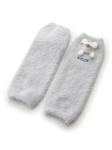 【BABY】'ベビモコ'ネズミ baby レッグウォーマー(BLU-F)