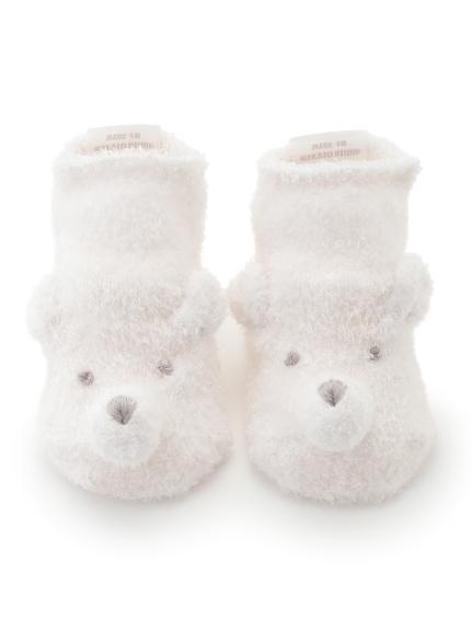 【旭山動物園】'スムーズィー'クマ baby ソックス(PNK-7)