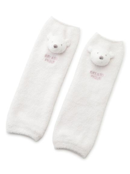 【旭山動物園】'スムーズィー'クマ baby レッグウォーマー(PNK-F)