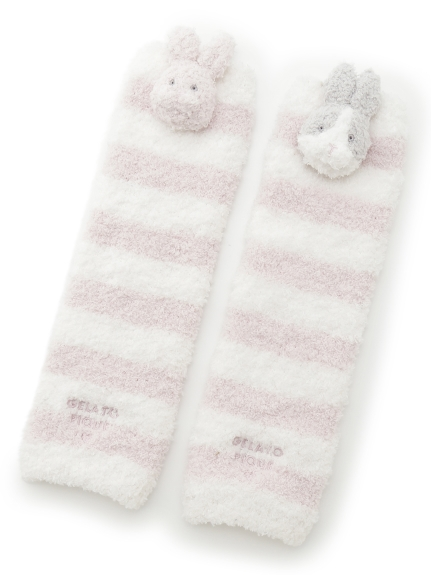 'パウダー'ウサギ baby レッグウォーマー(PNK-F)