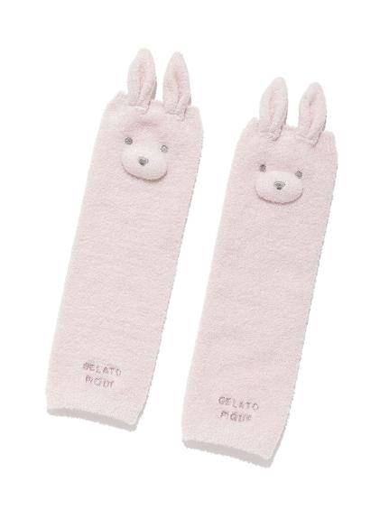 【BABY】 'リサイクル'スムーズィー'ウサギ baby レッグウォーマー(PNK-F)