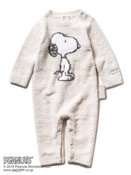 【BABY】【PEANUTS】'ベビモコ'ジャガード baby ロンパース(BEG-70)