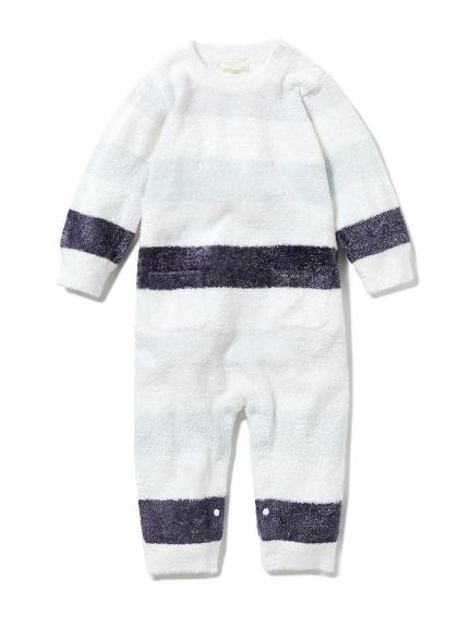 【BABY】'スムーズィー'4ボーダー baby ロンパース(MNT-70)