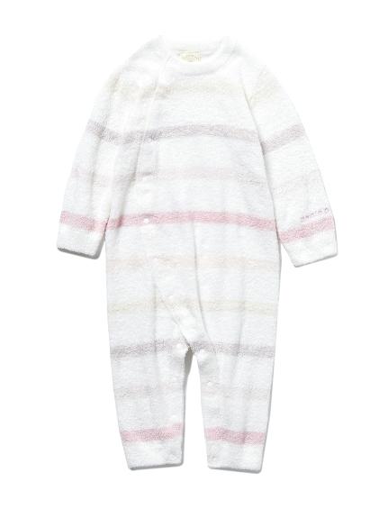 【BABY】'スムーズィー'6ボーダー baby ロンパース(PNK-70)