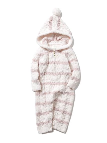 ボーダーアラン baby ロンパース(PNK-70)