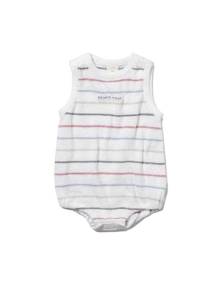 【BABY】'スムーズィー'カラフルピンボーダー baby ロンパース(OWHT-70)