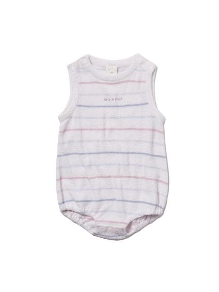 【BABY】'スムーズィー'カラフルピンボーダー baby ロンパース(PNK-70)