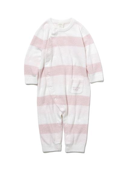 【BABY】 'リサイクル'スムーズィー'3ボーダー baby ロンパース
