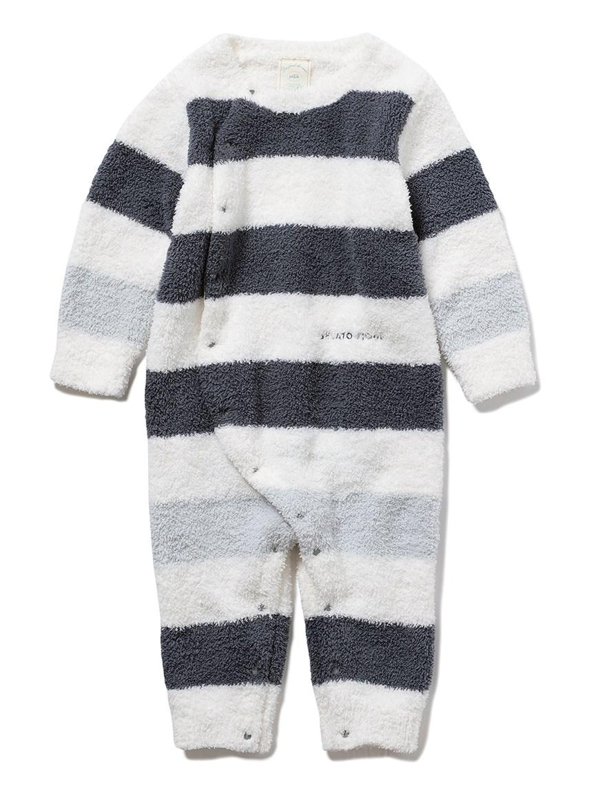 【BABY】パウダートリムボーダー baby ロンパース