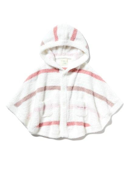 【BABY】'ベビモコ'マルチボーダー baby ポンチョ(PNK-70)