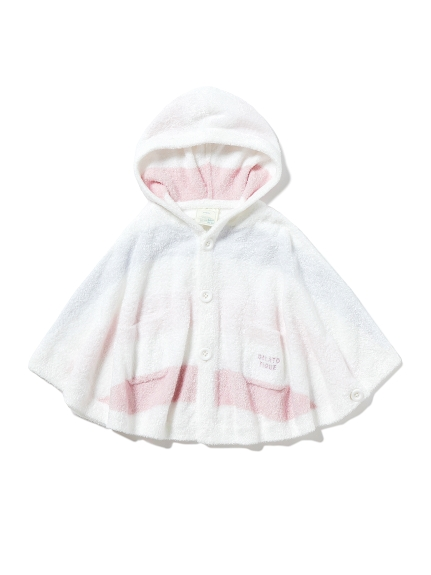 【BABY】'スムーズィー'4ボーダー baby ポンチョ