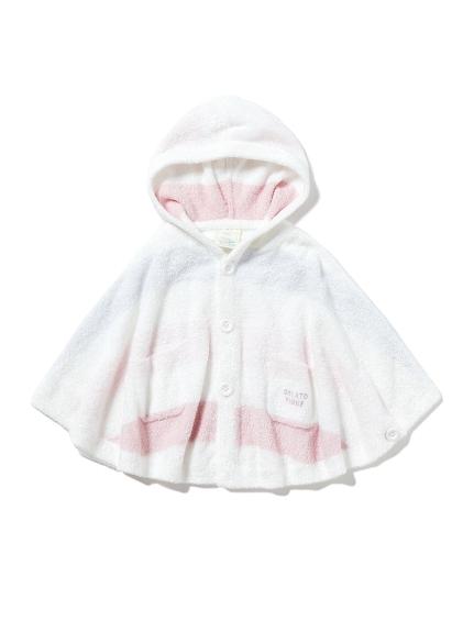 【BABY】'スムーズィー'4ボーダー baby ポンチョ(PNK-70)