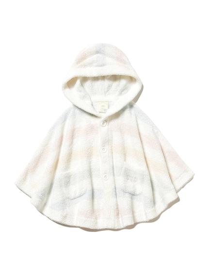 'スムーズィー'カラフルボーダー baby ポンチョ(PASTEL-70)