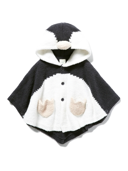 【BABY】【旭山動物園】ペンギン baby ポンチョ(NVY-70)