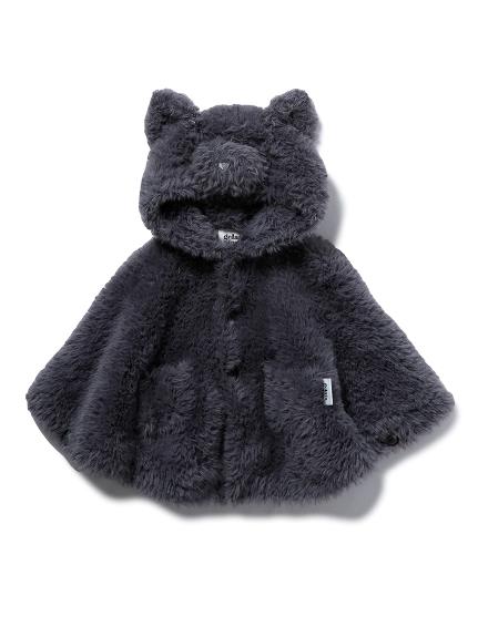 【BABY】【Halloween限定】 ネコモコ baby ポンチョ(GRY-70)