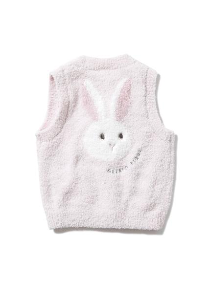 'パウダー'ウサギジャガード baby ベスト(PNK-70)