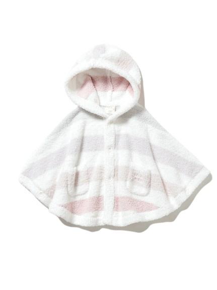 【BABY】'ベビモコ'5ボーダー baby ポンチョ(PNK-70)