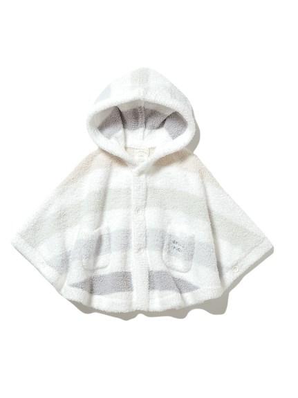 【BABY】'ベビモコ'5ボーダー baby ポンチョ(BLU-70)