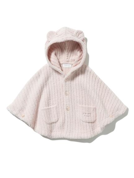【BABY】'マシュマロモコ'リブ baby ポンチョ(PNK-70)