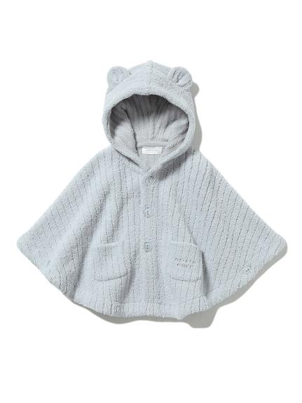 【BABY】'マシュマロモコ'リブ baby ポンチョ(BLU-70)
