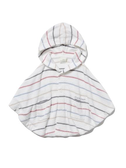 【BABY】'スムーズィー'カラフルピンボーダー baby ポンチョ(OWHT-70)