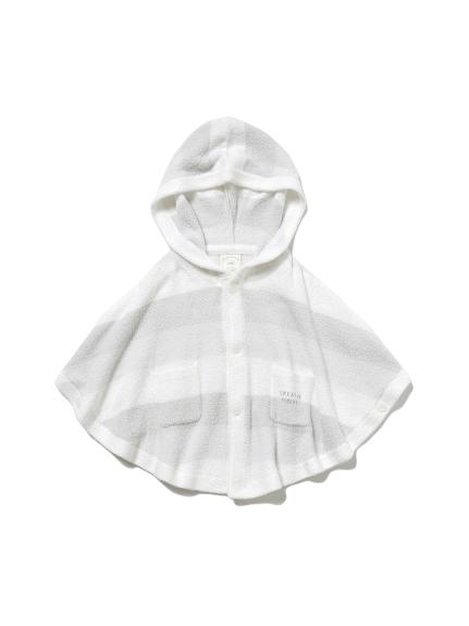 【BABY】 リサイクル'スムーズィー'3ボーダー baby ポンチョ(MNT-70)