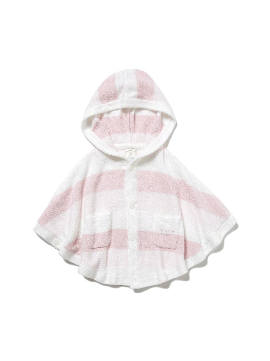 【BABY】 リサイクル'スムーズィー'3ボーダー baby ポンチョ(PNK-70)