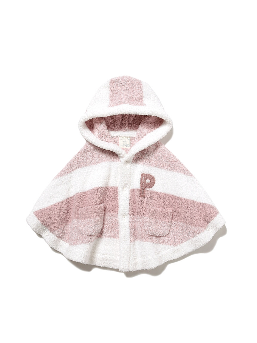 【BABY】 'ベビモコ'メランジボーダー baby ポンチョ