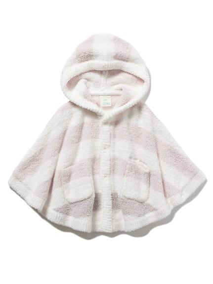 【BABY】パウダートリムボーダー baby ポンチョ(PNK-70)