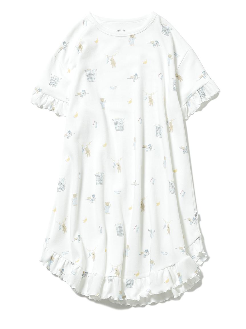 【オフィシャルオンラインストア限定】【junior】モーニングベア柄ドレス(OWHT-130-140)